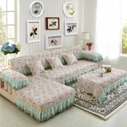 美优兰家纺 欧式提花沙发垫 倾城之恋-绿