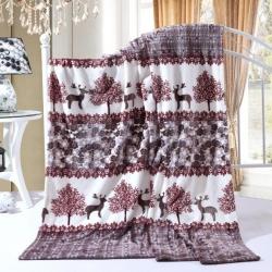 坦客毯业 柔软亲肤法莱绒毛毯两情相悦