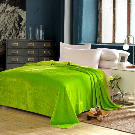 (总)绒品之家 素色三角针毛毯