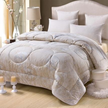 莫斯 羊毛被灰白 粉色 米黄100%羊毛(总)特价冬被
