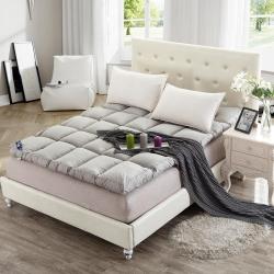 (总)一加一家纺 透气柔软羽丝绒床垫