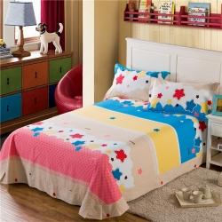 艾羽家纺 全棉高级磨毛澳棉系列单品床单 童星无限