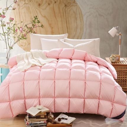 优闲羽绒 80s柔赛丝奢华面包羽绒被粉色