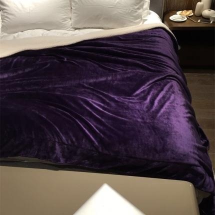 卜古家纺 ULTMATE羊羔绒毛毯 温莎紫