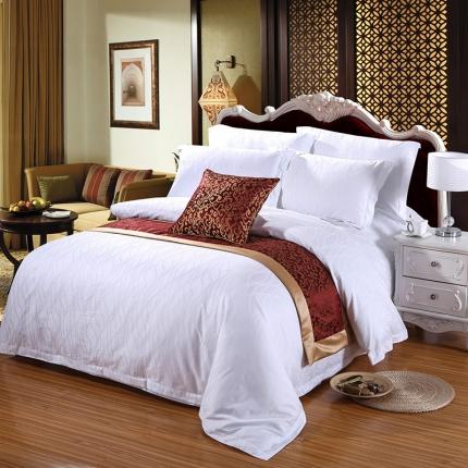 清怡家纺 全棉60贡缎提花五星级酒店四件套系列 60S水波纹