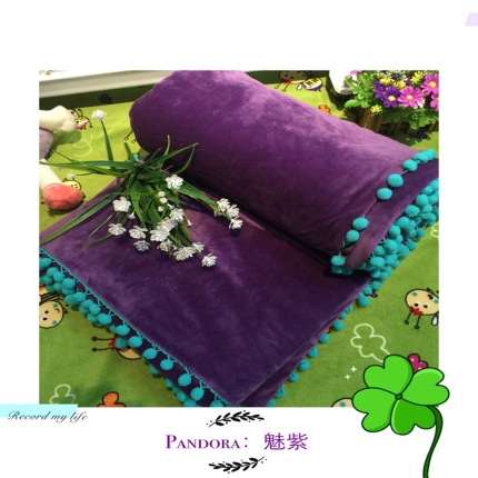 纯优家纺 Pandora潘多拉魔法毯子(单被套)魅紫