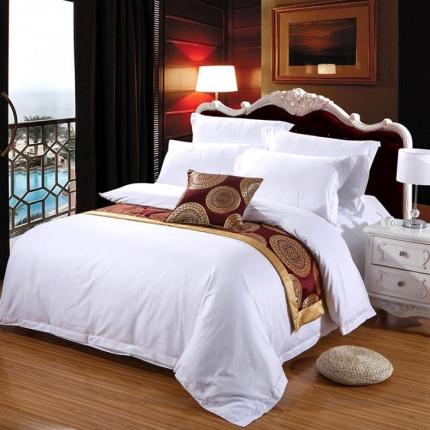 清怡家纺 全棉60贡缎提花五星级酒店四件套系列 60S贡缎