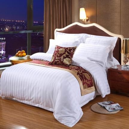 清怡家纺 全棉60贡缎提花五星级酒店四件套系列 加密三公分