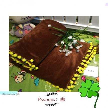 纯优家纺 Pandora潘多拉魔法毯子(单被套)咖啡色