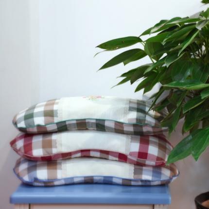 (总)初舍生活 水洗棉弧形茶叶枕