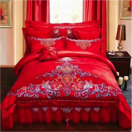 60s贡缎 珍爱一生  标准 四件套 床裙款