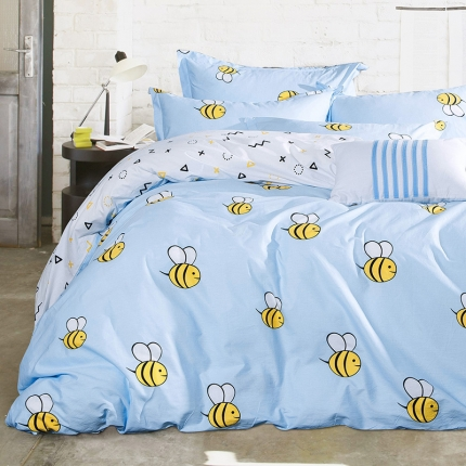 798家纺  13372全棉四件套蜜蜂家族