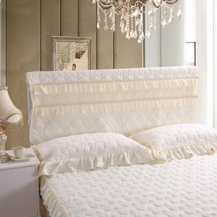 麦蕾迪家居 磨毛夹棉床头罩白色
