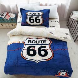 (总)全棉活性时尚大版花三件套可爱宿舍床上用品