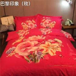 (总)凯歌家纺 婚庆磨毛四件套床单款