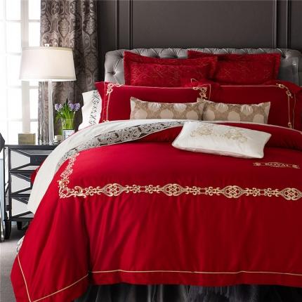 (总)兰博家纺 高端刺绣系列长绒棉四件套