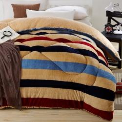 (总)梦巢家纺 加厚保暖羊羔绒冬被