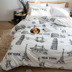 眠本家纺 简约宜家四件套第三季床单款 伦敦