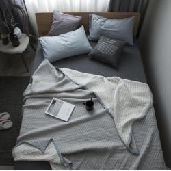 纯品家居 多层大提花盖毯毛毯花色2