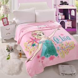 迪士尼家纺 柔软舒适法兰绒毛毯 冰雪公主
