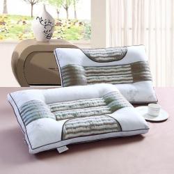 全棉负离子养生枕 护颈枕头 正品高档定型枕芯