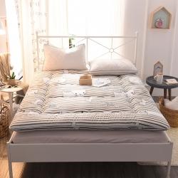 总米帛床垫超厚磨毛印花床垫可折叠榻榻米垫学生宿舍床褥