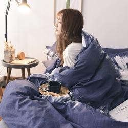 (总)宅部落 全棉加水晶绒保暖棉加绒法莱绒四件套床单款
