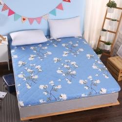 敢为床垫 加厚磨毛印花绗绣耐压床垫