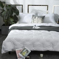 best 全棉133100羽绒被白鸭绒丝纯棉被子加厚保暖被芯
