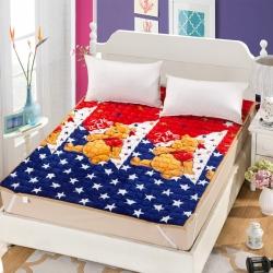 绗缝法兰绒床垫床褥