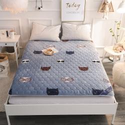 米帛床垫新款保暖加厚水晶绒床垫可折叠榻榻米单人学生宿舍床褥子