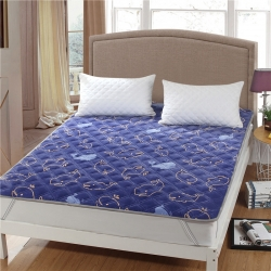 水晶宝宝绒床垫防滑保暖床褥床护垫可机洗软垫薄垫榻榻米鲸鱼