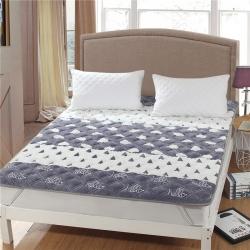 水晶宝宝绒床垫防滑保暖床褥床护垫可机洗软垫薄垫榻榻米幸福点点