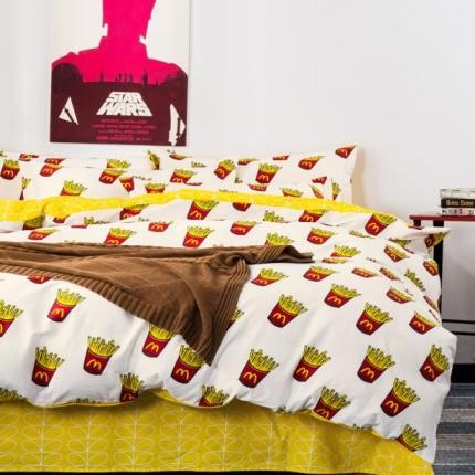 798家纺 13372全棉活性印染小清新四件套小薯条