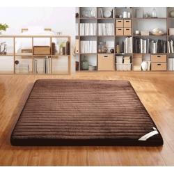 加厚法莱绒榻榻米床褥 可折叠单/双人1.5/1.8米立体床垫