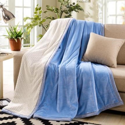 绒品之家600克双层贝贝绒毛毯