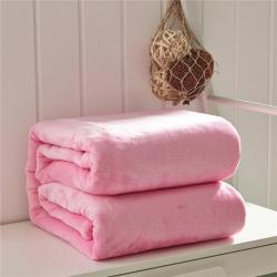 (总)来菲家纺 纯色金貂绒毛毯加厚法莱绒法兰绒毯子素色盖毯