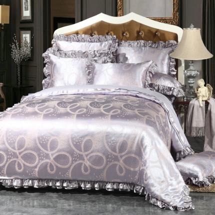 小时代家纺韩版提花床单四件套