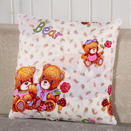 甜家美居 升级版四季通用磨毛印花抱枕被 小伙伴