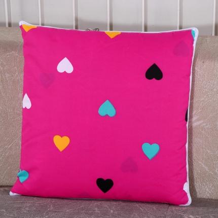 甜家美居 升级版四季通用磨毛印花抱枕被 可爱甜心