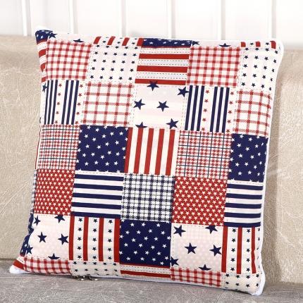 甜家美居 升级版四季通用磨毛印花抱枕被 欧美国旗