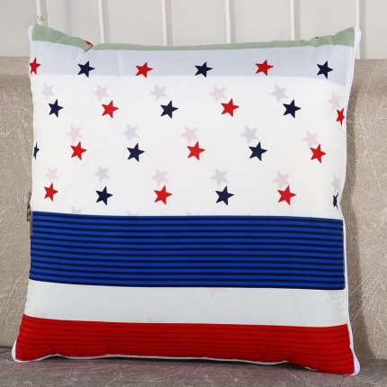 甜家美居 升级版四季通用磨毛印花抱枕被 自由星条