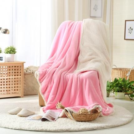 来菲家纺双层羊羔绒金貂绒加厚保暖冬季毯子纯色素色毛毯