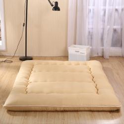 敢为床垫 超级加厚榻榻米床垫 打地铺神器 驼色