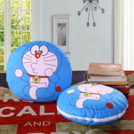 甜家美居 2016卡通定位圆形绗缝抱枕被亲嘴叮当