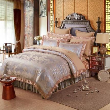 小时代家纺 提花加棉床裙床罩四件套 帕芙