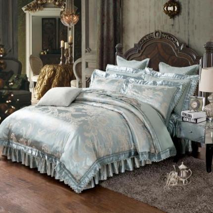 小时代家纺 提花加棉床裙床罩四件套 卡地罗