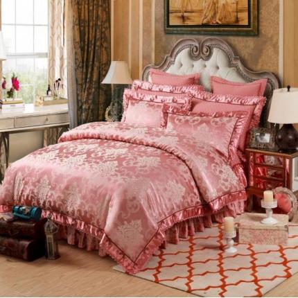 小时代家纺 提花加棉床裙床罩四件套 梦曼