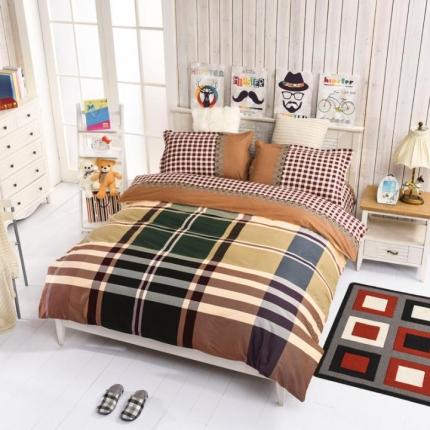 丽莎家纺新品磨毛四件套全棉磨毛套件床单款