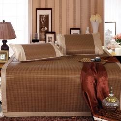 时尚皇家冰藤席三件套系列1.5/1.8米双人床夏季凉席